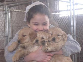 Girl with Cute Puppies